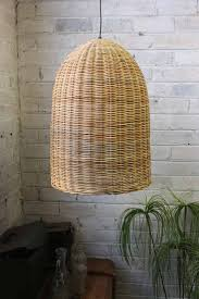 bell wicker pendant light rattan pendant lighting and lights