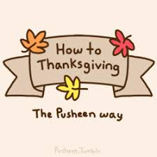 pusheen the cat thanksgiving