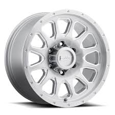 dwt elarco wheel truck rim 6lug silver brushed milled bevels 17x85 f png