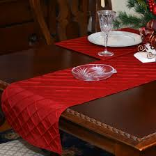 Holiday Table Runners by Table Runners 72 Inch Red Pintuck Table Runner At Sweetpealinens