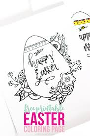 free printable easter coloring page printable crush