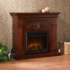 southern enterprises sicilian harvest mahogany electric fireplace