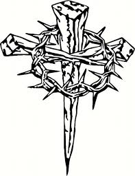 cross and crown of thorns cross with crown of thorns clipart clip