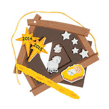 2014 2015 nativity christmas ornament picture frame craft kit
