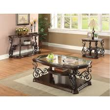 Metal Top Coffee Table Group Traditional Coffee Table With Tempered Glass Top U0026 Ornate