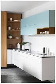 cuisine bleu pastel cuisine blanche bleu pastel et en bois naturel cuisine deco