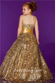 ball gown halter long gold sequin little evening prom dress