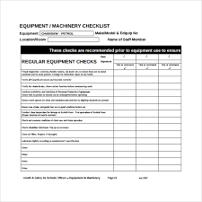 sample maintenance checklist template 17 free documents in pdf