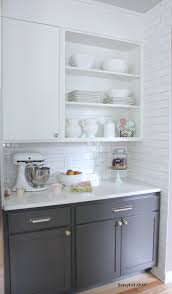 two tone kitchen cabinet ideas kitchen cabinet colors before u0026 after dove white benjamin