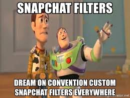 snapchat filters dream on convention custom snapchat filters