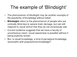 What Is Blind Sight What Is Knowledge 2016 Revision Jtb Conditions Not Being Necessary