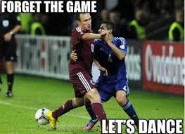Soccer Player Meme - forget the game let s dance funny soccer meme soccer pinterest