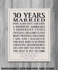 30th wedding anniversary gifts for parents 30th 40th 50th anniversary gift by castleinndesigns on etsy it s