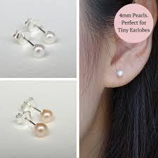 ear studds pearl ear studs tiny jl heart online