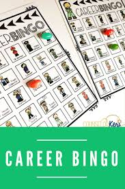 career bingo career game for elementary career education u0026 career