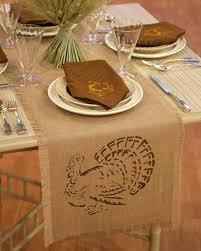 thanksgiving decorations martha stewart stenciled napkins and table runner martha stewart