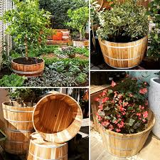 Half Barrel Planters by Roll Out Those Barrels U201350 Off Half Wine Barrel Planters At