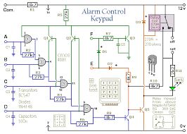 how to build a 4 digit alarm control keypad circuit diagram