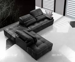 Primo Leather Sofa Modern Black Leather Sectional Sofa