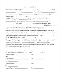 sample assignment of lease 9 free documents download in word pdf