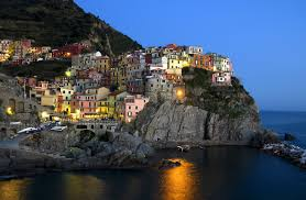 houses on the cliff in liguria italy wallpapers and images