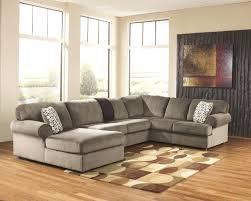 3 pieces faux linen sectional sofa with ottoman piece leather