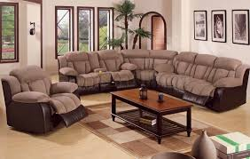 fabric sectional sofa with recliner luxury awesome lovely