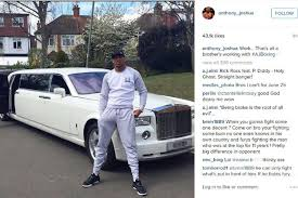 limousine rolls royce anthony joshua shows off his white 600k rolls royce phantom