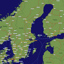 Rail Map Of Europe by Sweden Rail Travel Map European Rail Guide