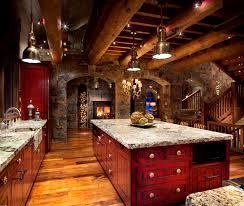 Rustic Cabin Kitchen Cabinets Hunter And Co Interior Design Log Cabins Pinterest