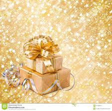 and gold christmas wrapping paper gift box in gold wrapping paper stock photo image of present