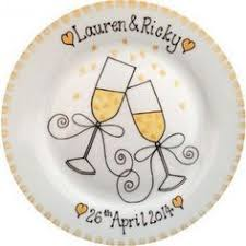 personalized anniversary plate custom name personalized painted ceramic wedding plate or
