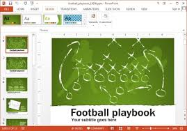 playbook template powerpoint animated football playbook powerpoint