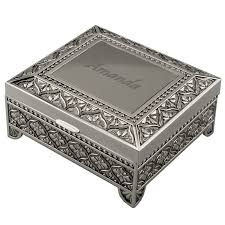 personalized photo jewelry box engraved jewelry box vintage siam sterling silver niello