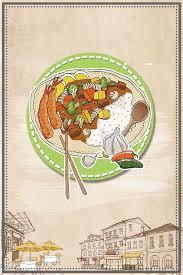 affiches cuisine la cuisine de restauration rapide des affiches de dessin de loisirs