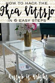 Vittsjo Coffee Table by Ikea Restyle Vittsjo Hack Restyle It Wright