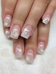 acrylic backfill glitz french led polish xmas design gel nails