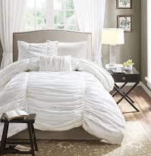 com madison park delancey 4 piece comforter set queen white home kitchen
