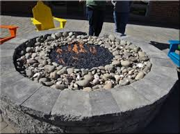 Fire Glass Fire Pit by Outdoor Gas Fire Pits With Fireglass And Fire Crystals Custom