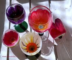 decorazioni bicchieri calici e ciotole fiore donnarita