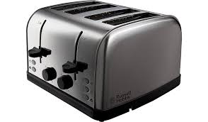 Asda Kettle And Toaster Sets Russell Hobbs 18790 Toaster 4 Slice Silver Home U0026 Garden