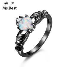 aliexpress buy brand tracyswing rings for women ms best brand opal heart claddagh rings for women size 5