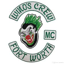 motorcycle jacket store sale coolest wino u0027s crew fort worth mc back embroidery patch