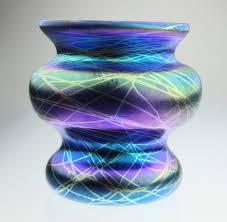 Glass Vase Art Rainbow Shine Iridescent And Holographic Decor