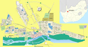 Port Elizabeth South Africa Map by Upington Travel Guide Accommodation Tourist Information