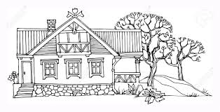 drawing houses cartoon hand drawing house royalty free cliparts vectors and stock
