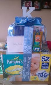 cheap baby shower gifts baby shower gift basket i made it s great because the crate can