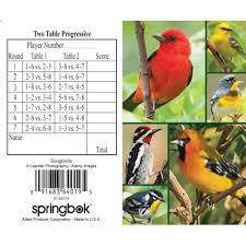 two table progressive tally songbirds bridge tally sheet 91683640195 calendars com