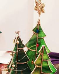 decorated 3d stained glass christmas tree