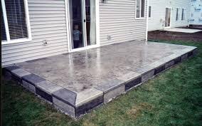 Backyard Concrete Patio Concrete Backyard Diy Home Outdoor Decoration